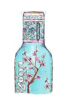 arizona tea agqua blue flowers indisch bright colorfull pastel