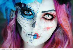 dia de los muertos/ horror makeup