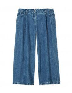 Michael Kors Pleated Denim Culottes - Shop more '70s chic pieces at ShopBAZAAR.com http://shop.harpersbazaar.com/new-arrivals/trending-now/
