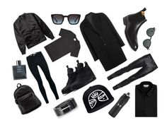"""Man black side ...."" by jackob-j-kubik on Polyvore featuring Acne Studios, Puma, Topman, NIKE, Steven Alan, Chanel, AMI, Vince Camuto, Yves Saint Laurent and Diesel"