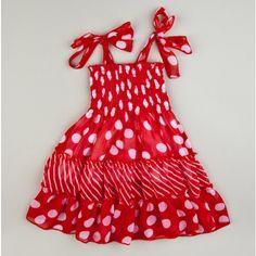 Infant Polka Dot Tiered Sundress by Lele