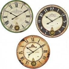 Wood Wall Clock With Pendulum | Round Wall Clock