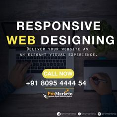 Design must seduce, shape and perhaps more importantly evoke Response.  Make your web design more responsive. Generate more traffic and reduce your bounce rate with ProMarketo Digital Agency.  Call now: +91 8095 4444 54 Email: info@promarketo.com  #ResponsiveWebDesigning #ProMarketo