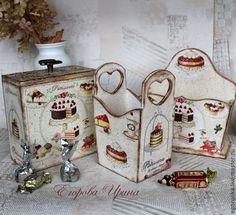 Russian decoupage Decor Crafts, Wood Crafts, Diy And Crafts, Arts And Crafts, Vintage Country, Vintage Wood, Decopatch Ideas, Decoupage Wood, Decoupage Ideas