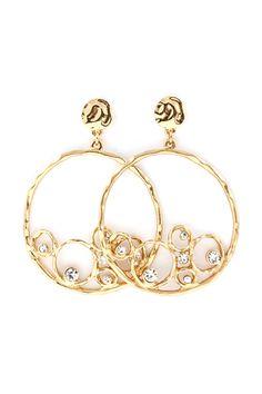 Crystal Ova Earrings on Emma Stine Limited