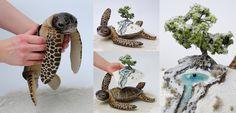 Poseable art doll, winter world bearer sea turtle by FellKunst on DeviantArt