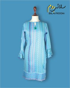 Printed Shirt Full sleeves Fabric: Lawn Full Sleeves, Printed Shirts, Lawn, Shirt Dress, Fabric, Summer, Prints, Blue, Collection