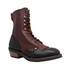 Customize a complete protection to your feet with the selection of this Adtec Women's Medium 6 Black or Dark Cherry Full-Grain Tumbled Leather Packer Boot. Logger Boots, Goodyear Welt, Steel Toe, Combat Boots, Laced Boots, Fashion Shoes, Men's Fashion, Shoe Boots, Black Leather
