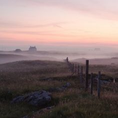 A misty evening on South Uist, Outer Hebrides, Scotland...