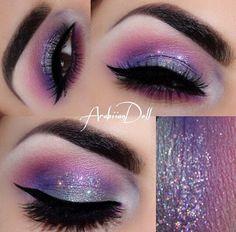 Adding glitter can make a galaxy look