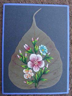 peepal leaf card