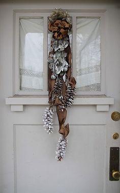 Gorgeous swag on E's porch door!