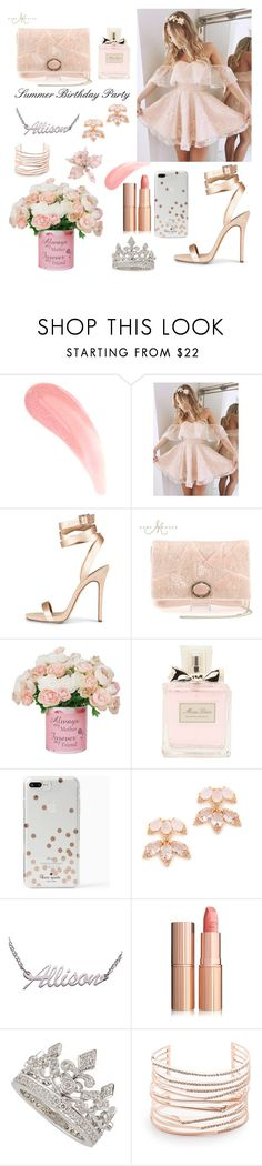 """""""Summer Birthday Party"""" by maria-c-simon ❤ liked on Polyvore featuring Christian Dior, Kate Spade, Garrard and Alexis Bittar"""