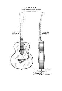 gibson eb2 bass guitar 1960 u0026 39 s patent art drawing by
