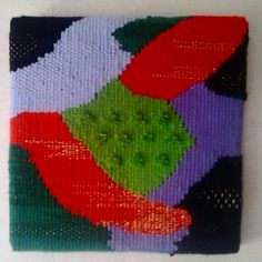 Weaving canvas by corneliasheep. Cuadro de lanas por corneliasheep