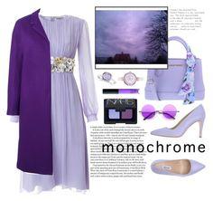 """Monochrome: purple."" by taissasilva ❤ liked on Polyvore featuring Ellemme, N°21, NARS Cosmetics, Mestige and Allurez"