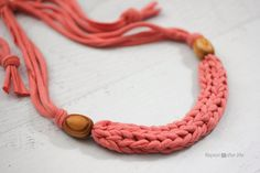 Here is a project that is great for kids, tweens, teens and adults! Finger weaving (also referred to as finger knitting) is a simple way of forming a complex looking braid. I am going to show you how to finger weave a necklace, but you could make a bracelet or a variety of other projects …