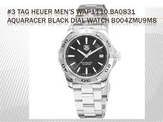 #3 TAG HEUER MEN'S WAP1110.BA0831 AQUARACER BLACK DIAL WATCH B004ZMU9M8