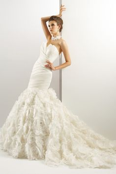 $208.99👉Notched Neck Trumpet Wedding Dress with Flowers www.ucenterdress..... Made to measure & Free Shipping! Shop lace wedding dresses, off the shoulder wedding dresses, backless wedding dresses, wedding dresses with sleeves, wedding dresses with tiers, fluffy wedding dresses, plus size wedding dresses, We have the best Wedding Dresses 2017 on sale at #UcenterDress.com today!