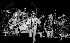 ...Enlightened Rogues... Dangerous Dan Toler, Jaimoe, Dickey Betts, David Goldflies and Butch Trucks on stage with The Allman Brothers Band at The Capitol Theatre in Passaic, NJ. April 20, 1979.