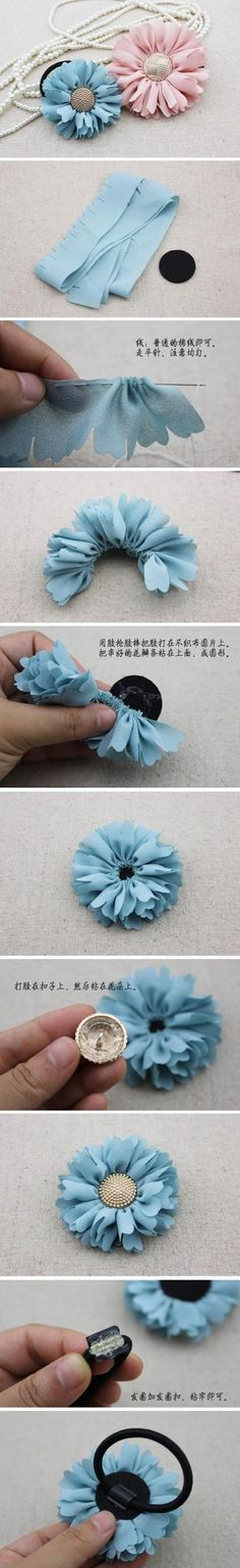 DIY Floral Hair Ties Pictures, Photos, and Images for Facebook, Tumblr, Pinterest, and Twitter