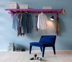 Garderobe aus einer Leiter via Ohhh Mhhh