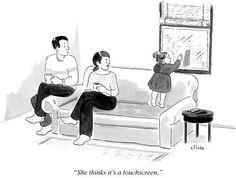 size: Premium Giclee Print: January 2013 New Yorker Cartoons Wall Art by Emily Flake : Memes Humor, Funny Memes, Funny Quotes, New Yorker Cartoons, Haha Funny, Lol, Funny Stuff, Hilarious, Social Media Humor
