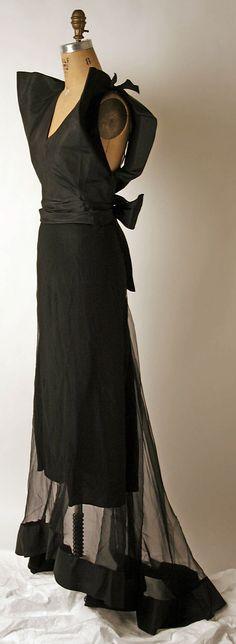 Evening dress Nettie Rosenstein  (American, 1890–1980)   Date: 1930s Culture: American Medium: silk, Sideways