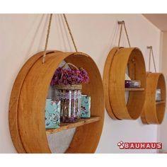 Mutfak dekorasyonunuz için eleklerden raf yapmaya ne dersiniz?