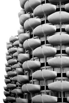 Apartment towers at Créteil (Val de Marne) by architect Gérard Grandval