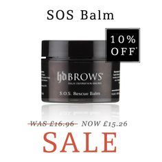 10% off HD Brows SOS Balm - Now only £15.26.   Visit http://hdbrows.com/sos-balm-777.html and get the winter essential to moisturise and protect your skin x