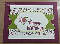 A Whole Lot of Lovely, Into the Woods DSP StampinUp