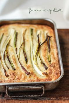spring onions focaccia, by vanigliacooking