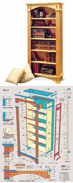 Traditional Bookcase Plans - Furniture Plans and Projects | WoodArchivist.com