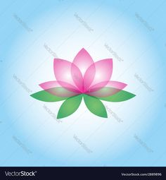 23e459cc6e6c Lotus flower vector image on VectorStock