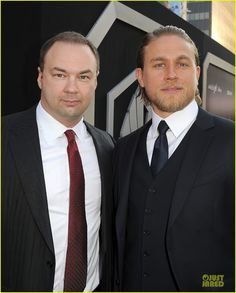 """Thomas Tull Legendary Pictures with Charlie Hunnam at Premiere of """"Pacific Rim"""" in Hollywood"""