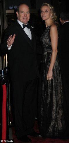 Prince Albert II and Princess Charlene at the Princess Grace awards gala at Cipriani.