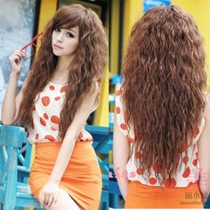 New Womens Fashion Sexy long Full Curly Wavy Hair Wigs Cosplay Party 3 Colors  Ship to worldwide with track number  Features:  This pop style wig is soft to the touch and looks silky and healthy! Feels and looks similar to true-to-life human hair.    Comfortable enough to wear daily and won'...