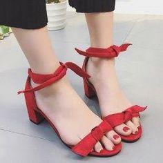 Gamiss - Gamiss Knot Block Heel Sandals - AdoreWe.com
