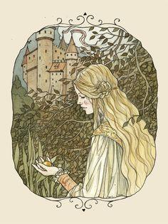 Golden Ball by liga-marta on deviantART ~ artist Liga Klavina from Latvia ~ for Brothers Grimm fairy tale The Frog Prince