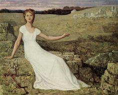 """Pierre Puvis de Chavannes, """"La speranza"""", 1871-72, olio su tela. Parigi, Museo d'Orsay"""