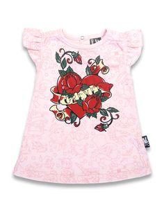 BABY DRESS ROCKABILLY SIX BUNNIES SHOWER GIFT GIRLS HEART ROSE FOREVER TATTOO