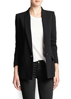 Buy Mango Crepe Suit Blazer, Black from our Women's Coats & Jackets range at John Lewis & Partners. Blazers For Women, Jackets For Women, Clothes For Women, Outfit Combinations, Womens Clothing Stores, Outlet, Manga, Blazer Suit, My Style