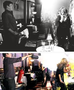 """""""He's super funny, loves to make other people laugh. We have a great time working together."""" - Stana Katic- BTS of Lucky Stiff, true Stanathan Castle Series, Castle Tv Shows, 12th Precinct, Seamus Dever, Tv Show Couples, Richard Castle, Castle Beckett, Nathan Fillion, People Laughing"""