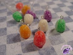 Gum Drop Candy - polymer clay, clear glaze, and glitter