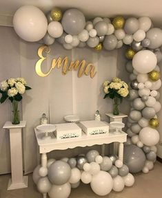 Super ideas for party decoracion ideas blue baby shower Shower Party, Baby Shower Parties, Baby Shower Themes, Baby Boy Shower, Baby Shower Decorations, Bridal Shower, Shower Ideas, 50th Birthday Party, Birthday Balloons