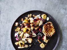 Opskrift på rodfrugter bagt i ovn med honning og rosmarin.
