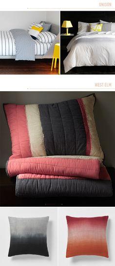 love the dip dyed pillows via Design Love Fest