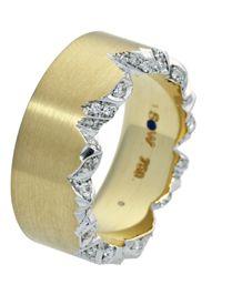 Ring Saturn, Schmuckwerk Whitegold 750, Diamond.