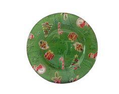 Prato Natal Verde Sobremesa